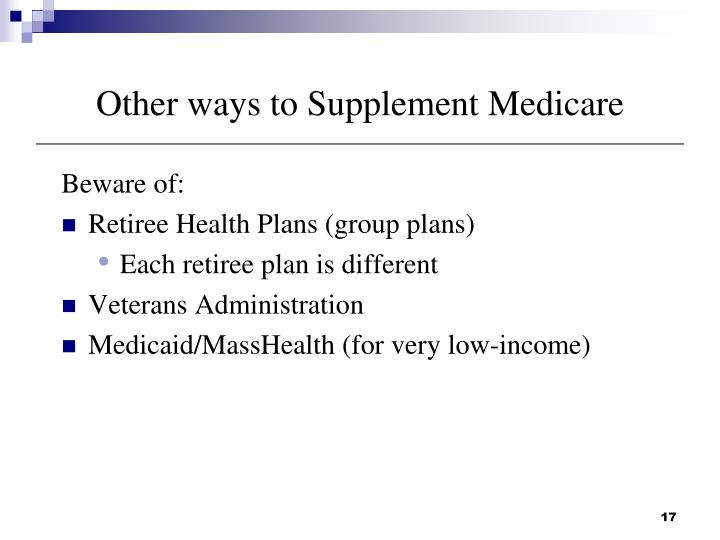 Other ways to Supplement Medicare