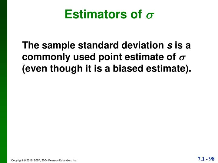 Estimators of