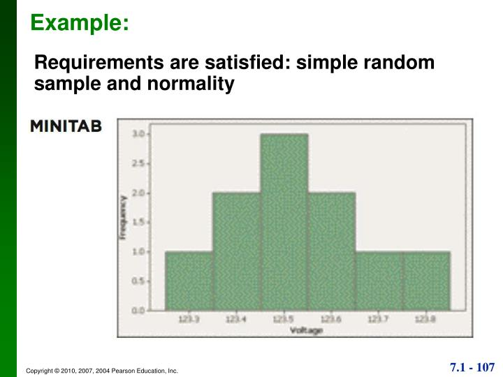 Requirements are satisfied: simple random sample and normality