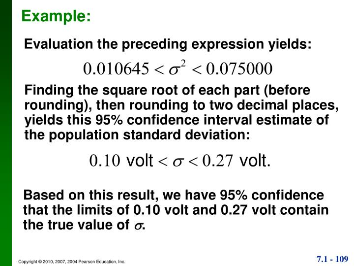 Evaluation the preceding expression yields: