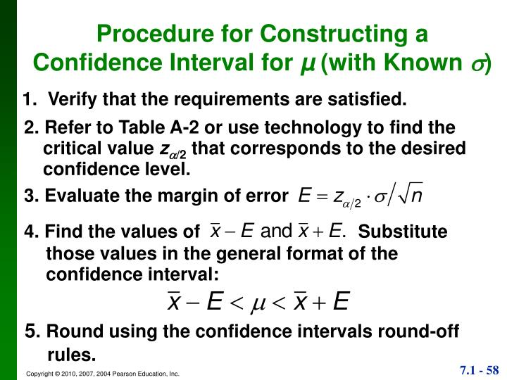 Procedure for Constructing a Confidence Interval for