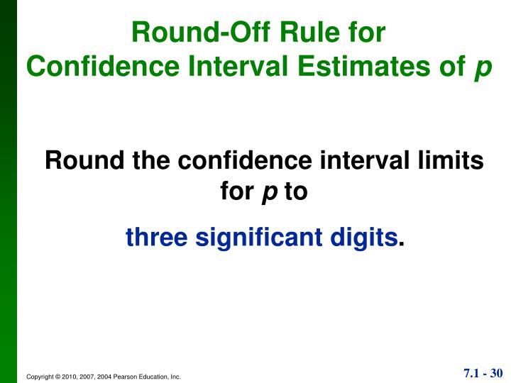 Round-Off Rule for