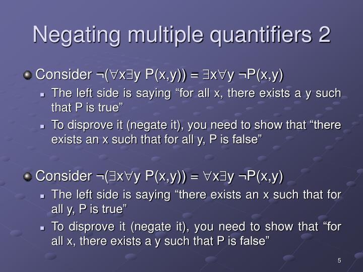 Negating multiple quantifiers 2