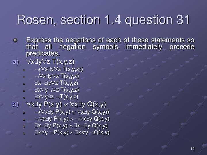 Rosen, section 1.4 question 31