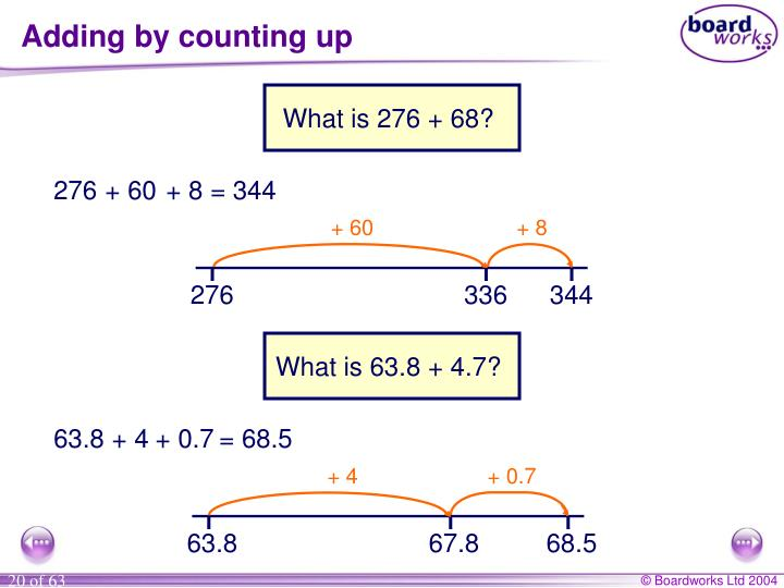 Adding by counting up
