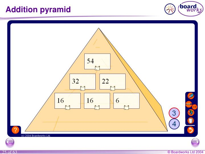 Addition pyramid