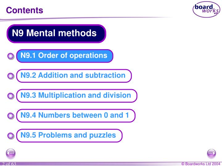 N9 Mental methods