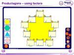 productagons using factors