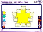 productagons using place value
