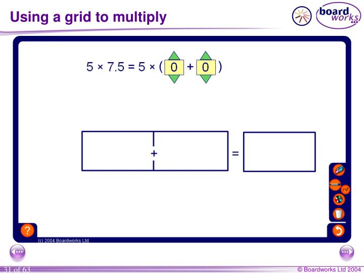 Using a grid to multiply