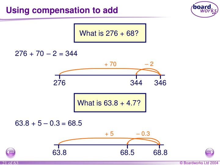 Using compensation to add