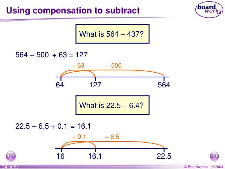 Using compensation to subtract