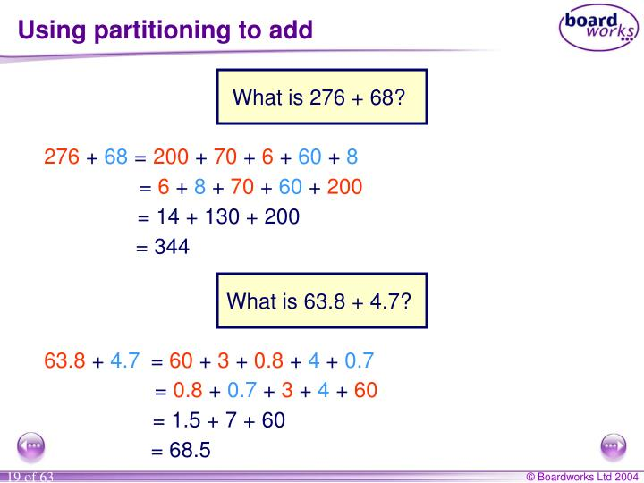 Using partitioning to add