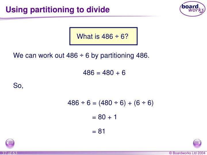 Using partitioning to divide