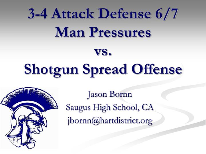 3 4 attack defense 6 7 man pressures vs shotgun spread offense
