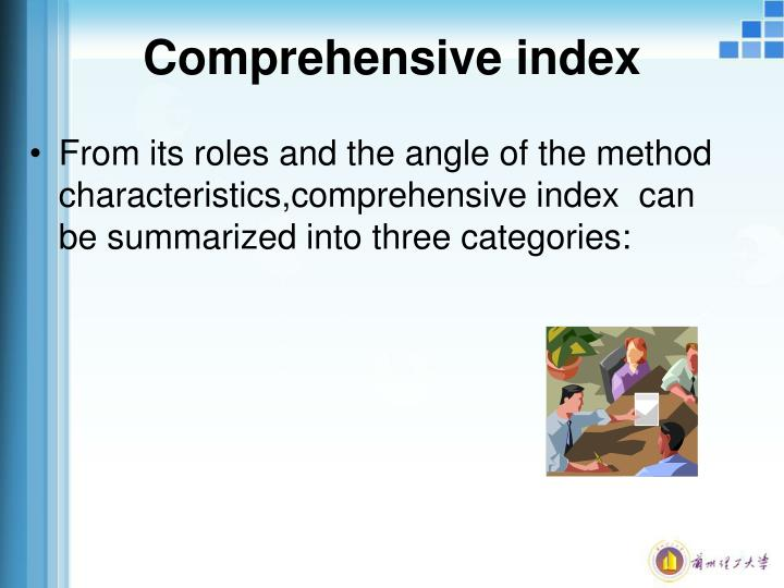 Comprehensive index
