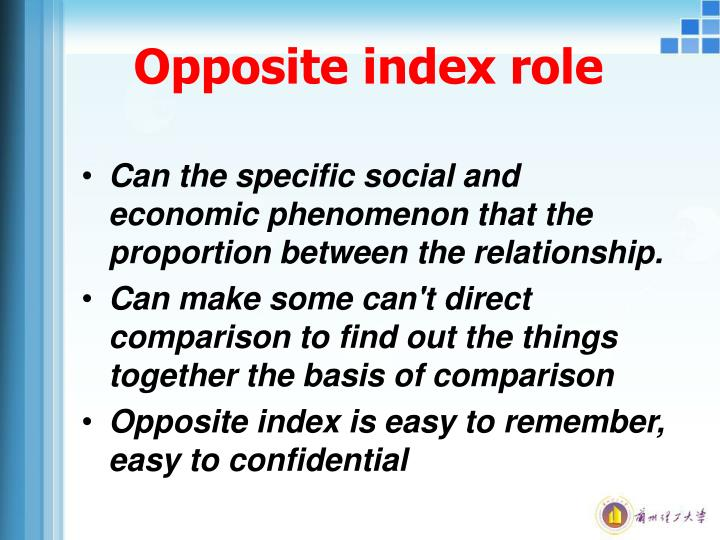 Opposite index role