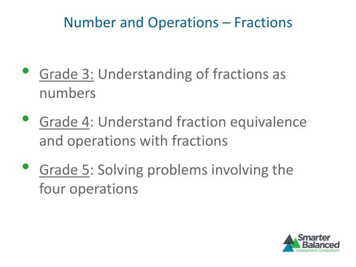 Number and Operations – Fractions