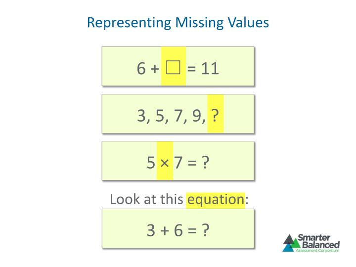 Representing Missing Values