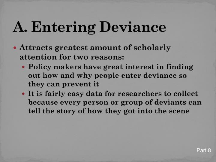 A. Entering Deviance