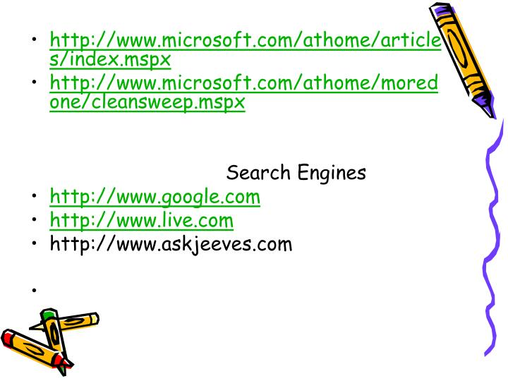 http://www.microsoft.com/athome/articles/index.mspx