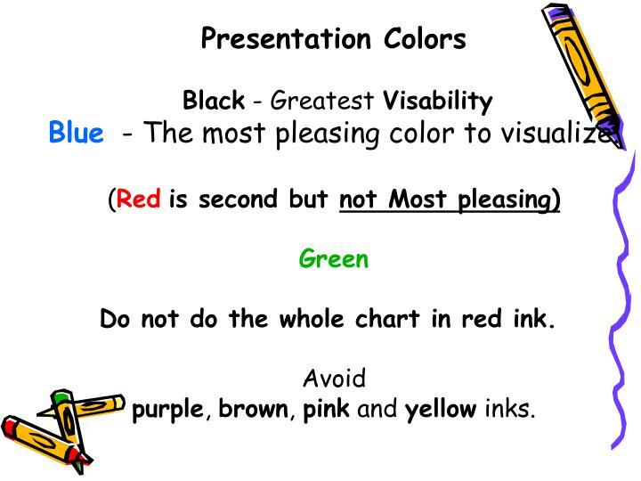 Presentation Colors