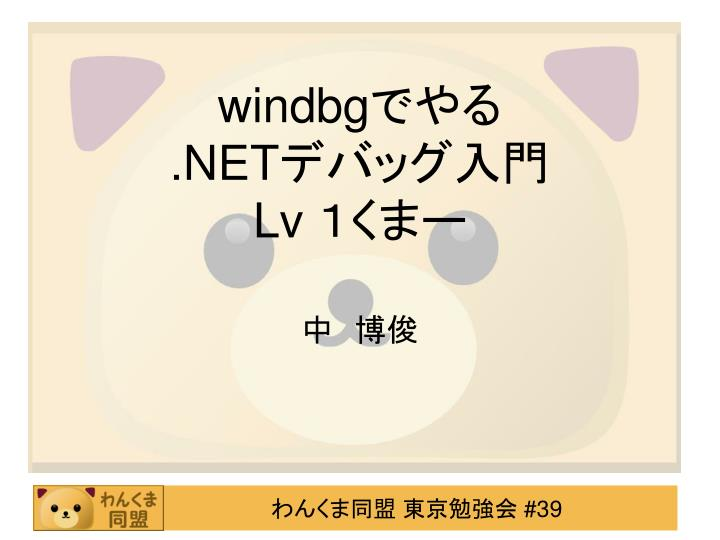 Windbg net lv