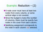 example reduction 2