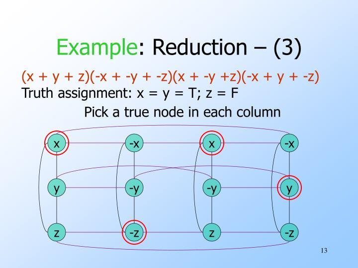Pick a true node in each column