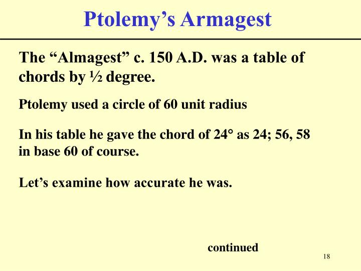 Ptolemy's Armagest