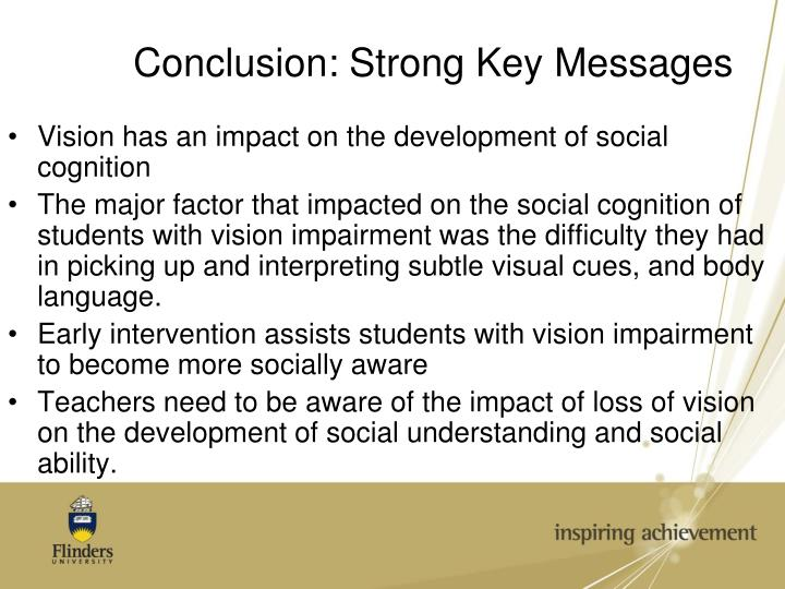 Conclusion: Strong Key Messages