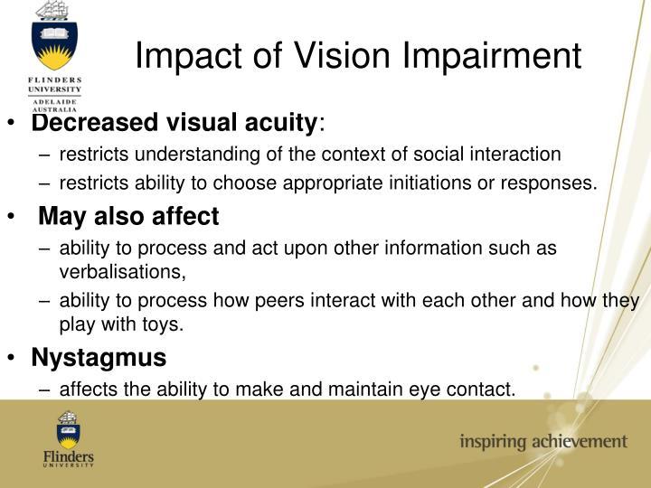 Decreased visual acuity