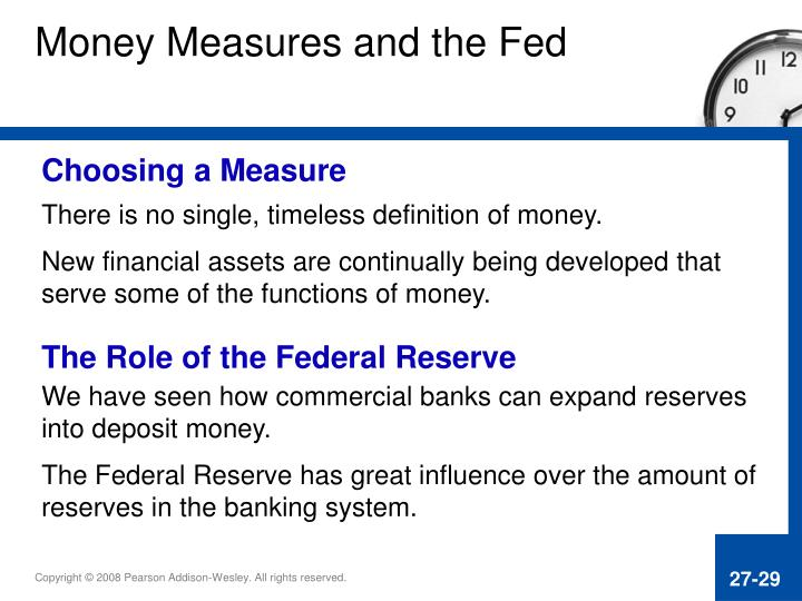 Money Measures and the Fed