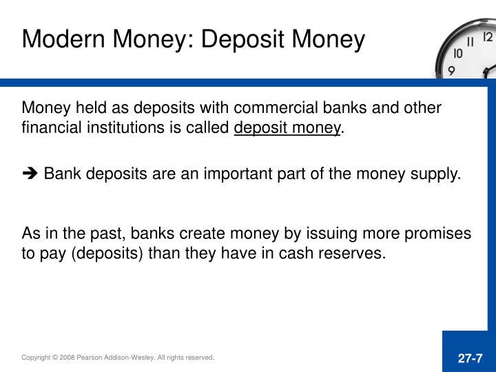 Modern Money: Deposit Money