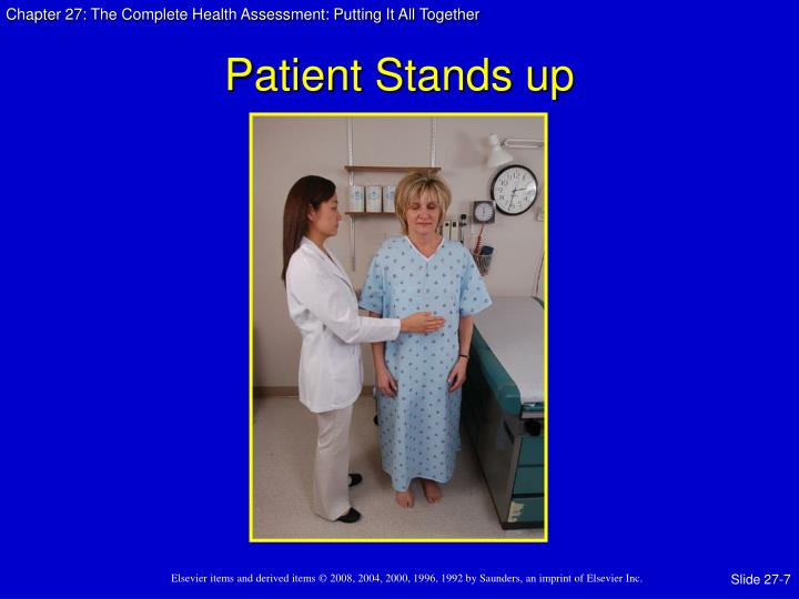 Patient Stands up