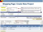 mapping page create new project1