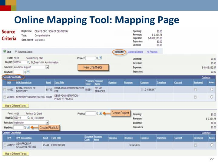 Online Mapping Tool: Mapping Page