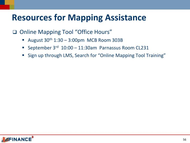 Resources for Mapping Assistance