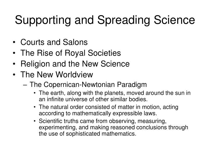 Supporting and Spreading Science