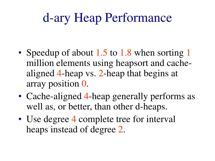 d-ary Heap Performance