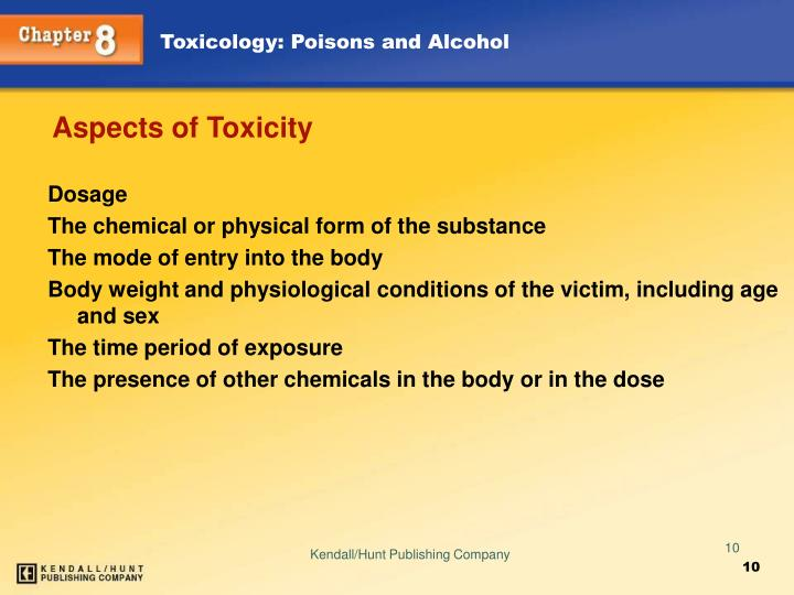 Aspects of Toxicity