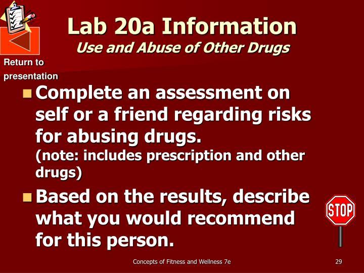 Lab 20a Information