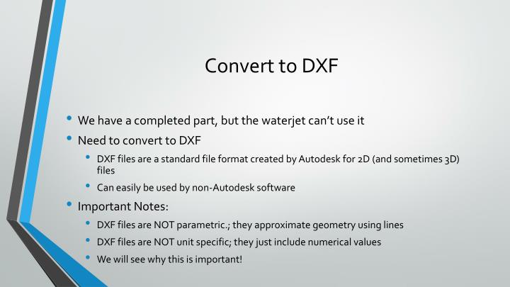 Convert to DXF