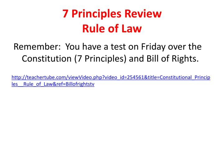 7 Principles Review