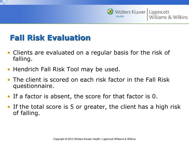 Fall Risk Evaluation