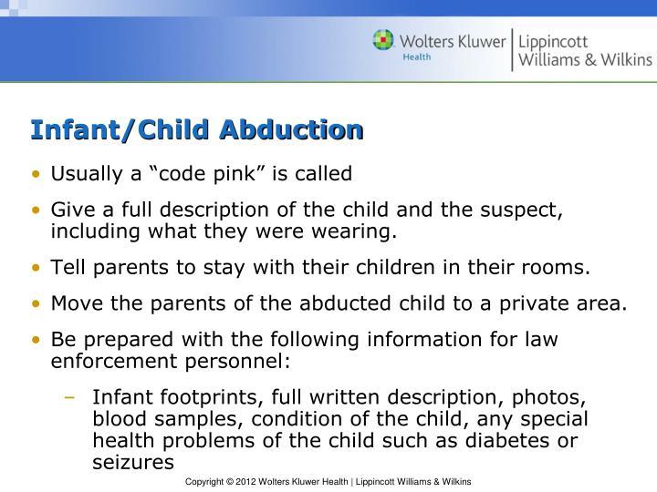 Infant/Child Abduction