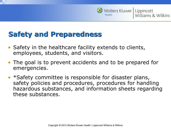 Safety and Preparedness