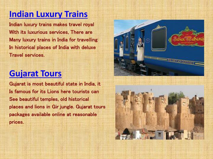 Indian Luxury Trains