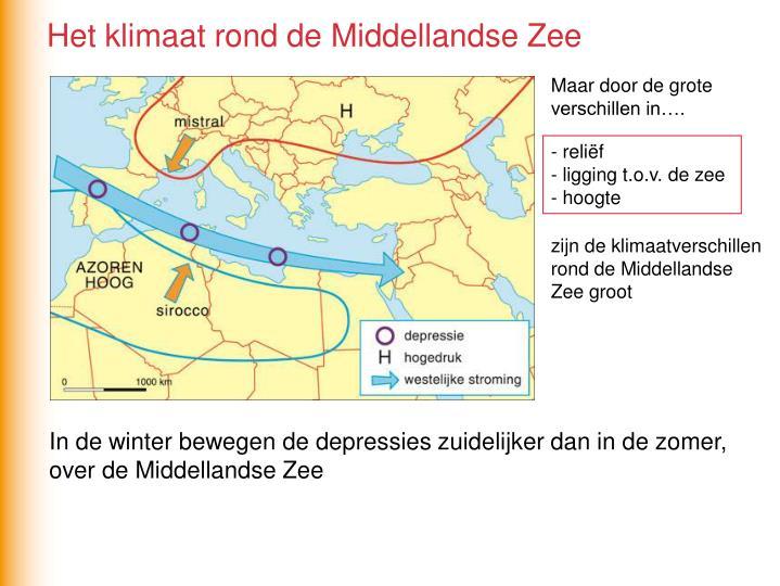 Het klimaat rond de Middellandse Zee