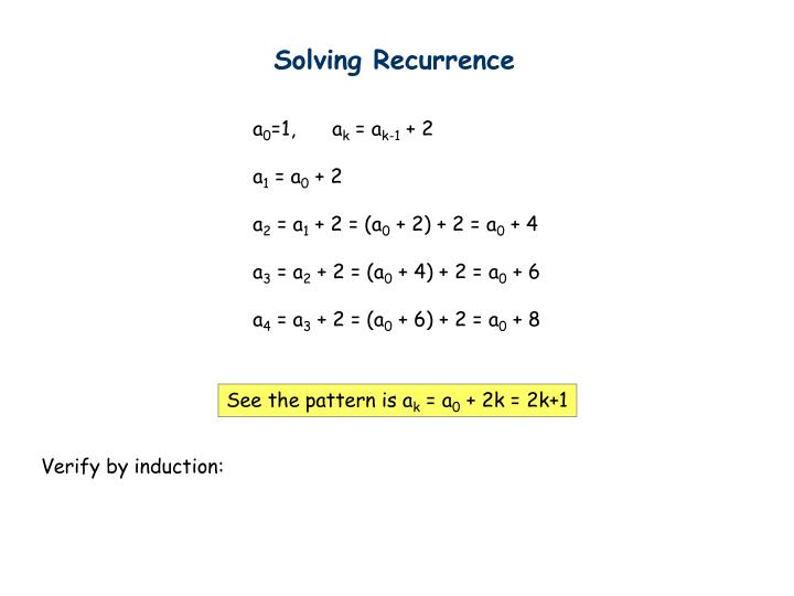 Solving Recurrence